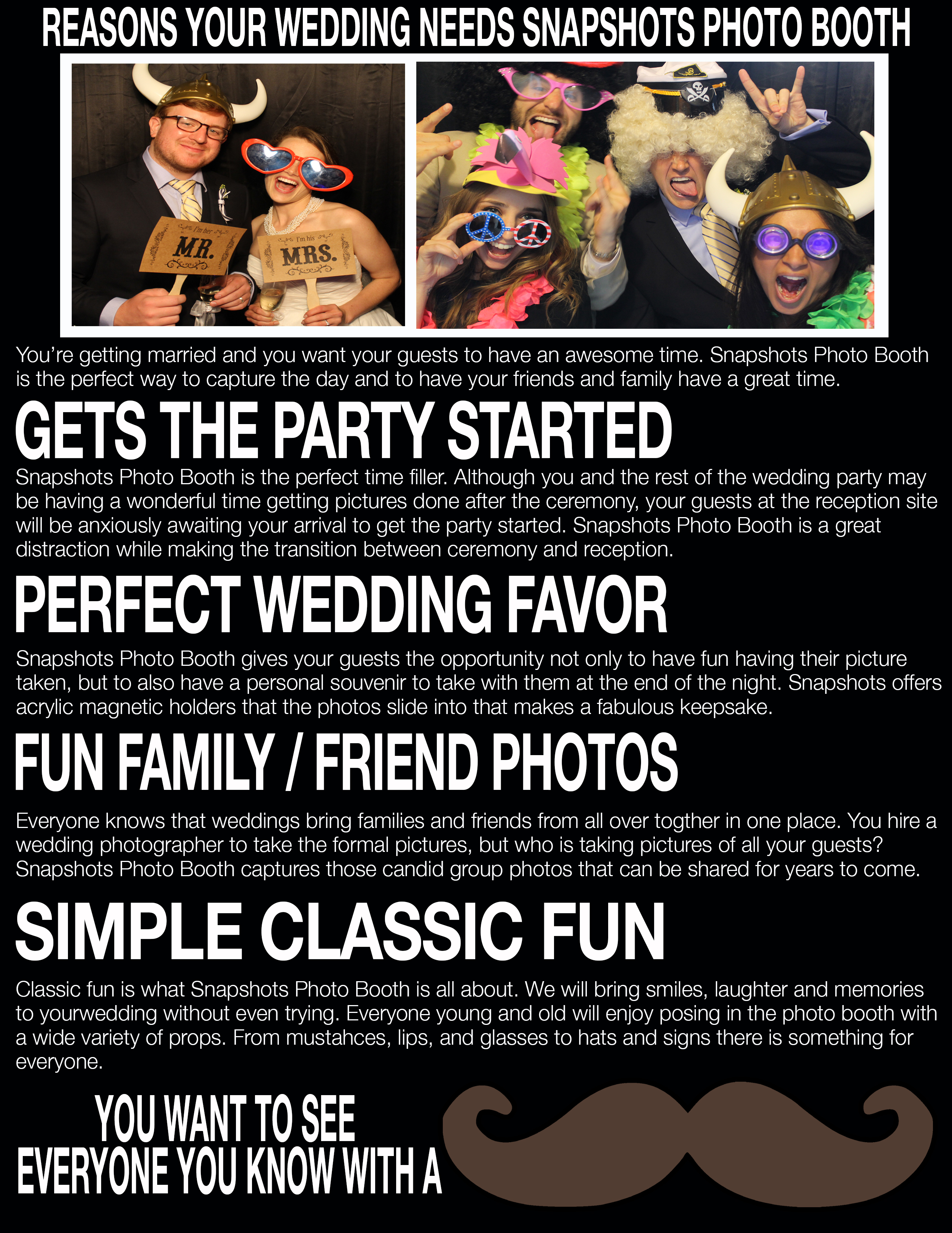 Why Snapshots Photo Booth is the Perfect Addition to Your Wedding