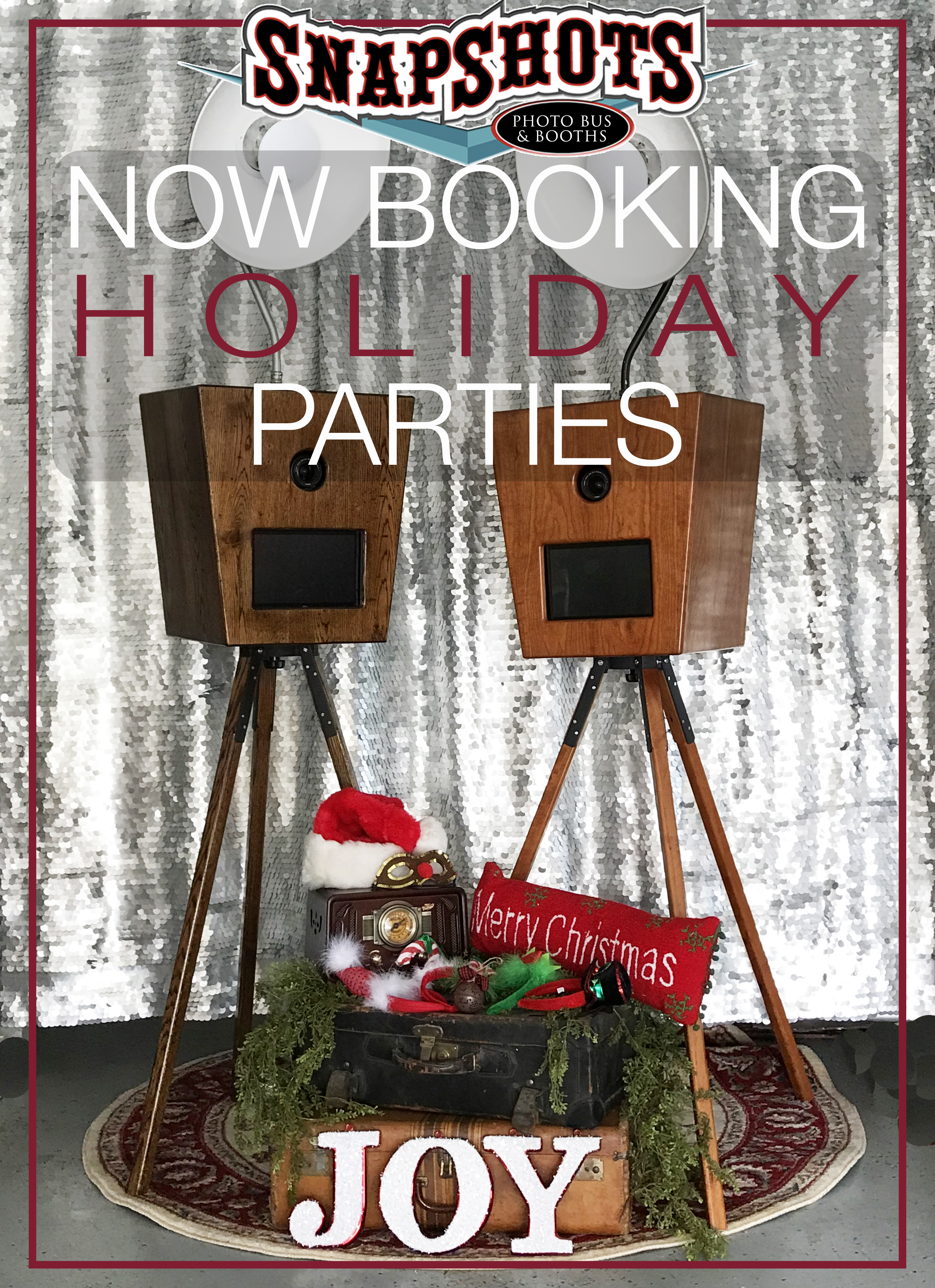BOOK YOUR HOLIDAY PARTY WITH SNAPSHOTS PHOTO BUS AND BOOTHS